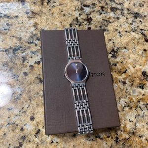 Movado Esperanza Blue Dial Stainless Steel Watch